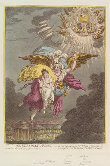 'The guardian-angel', by James Gillray, published by  Hannah Humphrey, published 22 April 1805 - NPG D12842 - © National Portrait Gallery, London