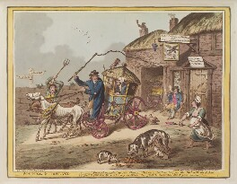 'Posting in Ireland', by James Gillray, published by  Hannah Humphrey - NPG D12843