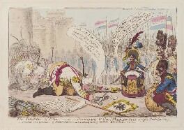 'The surrender of Ulm - or - Buonapartè & Genl Mack, coming to a right understanding', by James Gillray, published by  Hannah Humphrey - NPG D12851