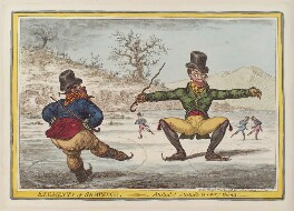 'Elements of skateing - attitude! - attitude is every thing!', by James Gillray, published by  Hannah Humphrey, published 24 November 1805 - NPG  - © National Portrait Gallery, London