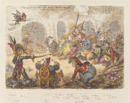 'Westminster conscripts under the training act', by James Gillray, published by  Hannah Humphrey - NPG D12872