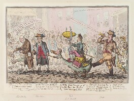 'Triumphal procession of little-Paul-the taylor upon his new-goose', by James Gillray, published by  Hannah Humphrey, published 8 November 1806 - NPG D12881 - © National Portrait Gallery, London
