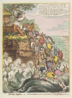 'The pigs possessed: - or - the Broad Bottom'd litter running headlong into ye sea of perdition', by James Gillray, published by  Hannah Humphrey - NPG D12888