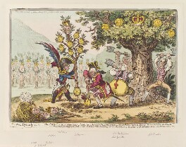 'The new dynasty: - or - the little Corsican Gardiner planting a royal-pippin-tree. -