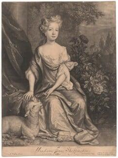 Jane (née Skeffington), Lady Hamilton, by John Smith, published by  Edward Cooper, after  Willem Wissing, 1687 - NPG D11979 - © National Portrait Gallery, London