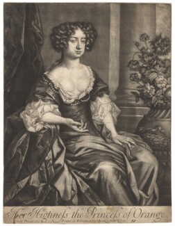 Queen Mary II when Princess of Orange, published by Edward Cooper, after  Sir Peter Lely - NPG D11988