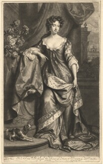 Queen Anne when Princess of Denmark, by John Smith, published by  Edward Cooper, after  Willem Wissing, after  Jan van der Vaart, after  Edward A. Smith - NPG D11997