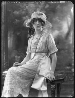 Anne Monica Georgiana Plumer (née Tempest-Hicks), Viscountess Plumer, by Bassano Ltd - NPG x121084