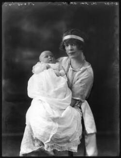 Anne Cynthia Veronica Tempest Leapman (née Plumer); Anne Monica Georgiana Plumer (née Tempest-Hicks), Viscountess Plumer, by Bassano Ltd - NPG x121085