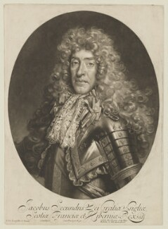 King James II, by John Smith, published by  Alexander Browne, after  Nicolas de Largillière, 1686 - NPG D12000 - © National Portrait Gallery, London
