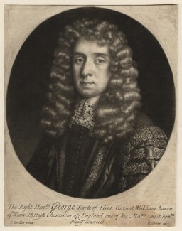 George Jeffreys, 1st Baron Jeffreys of Wem, published by Edward Cooper, after  Sir Godfrey Kneller, Bt - NPG D12005