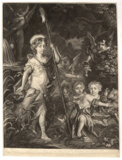 Children of Thomas, 2nd Baron Crew of Steine (Jemima, Airmine and Elizabeth), by William Vincent, after  Jacob Huysmans - NPG D13164