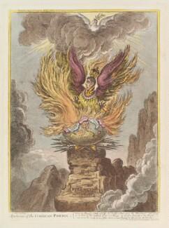 Napoléon Bonaparte ('Apotheosis of the Corsican-phoenix'), by James Gillray, published by  Hannah Humphrey - NPG D12910