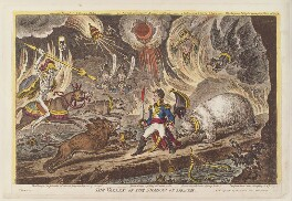 Napoléon Bonaparte ('The valley of the shadow of death'), by James Gillray, published by  Hannah Humphrey - NPG D12912