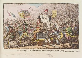 'The loyal address! - or - the procession of the Hampshire-hogs from Botley to St James's', by James Gillray, published by  Hannah Humphrey - NPG D12913