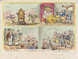 'Patriotic-petitions on the convention', by James Gillray, published by  Hannah Humphrey - NPG D12914