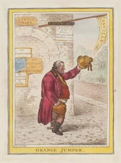 'Orange jumper', by James Gillray, published by  Hannah Humphrey - NPG D12918