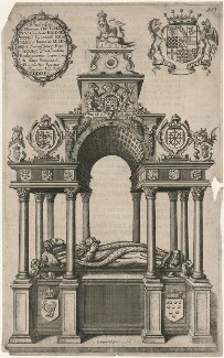 Monument to Queen Elizabeth I in Westminster Abbey, by Richard Gaywood, after  Maximilian Colte - NPG D13170