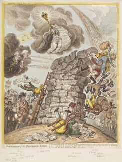 'Overthrow of the Republican-Babel', by James Gillray, published by  Hannah Humphrey - NPG D12921