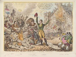 'True reform of Parliament, - i.e. - patriots lighting a revolutionary-bonfire in New Palace Yard', by James Gillray, published by  Hannah Humphrey - NPG D12923