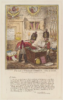'The life of William Cobbett - written by himself. No 4' (William Cobbett), by James Gillray, published by  Hannah Humphrey - NPG D12927