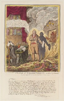 'The life of William Cobbett - written by himself. No 5' (William Cobbett; Sir Charles Morgan (né Gould), 1st Bt), by James Gillray, published by  Hannah Humphrey - NPG D12928