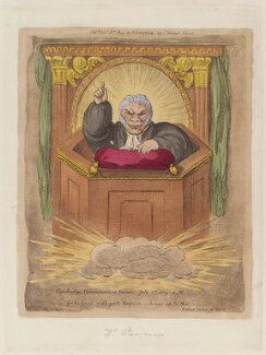 'Cambridge commencement sermon, July 2nd 1809', by James Gillray, published by  Hannah Humphrey - NPG D12932