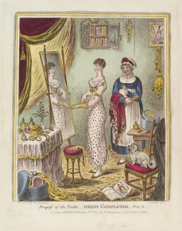 'Progress of the toilet - Dress completed - Plate 3', by James Gillray, published by  Hannah Humphrey, published 26 February 1810 - NPG  - © National Portrait Gallery, London