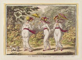 'The graces in a high wind', by James Gillray, published by  Hannah Humphrey - NPG D12947