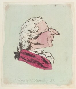 'Head of an old man', possibly by James Gillray, published by  Hannah Humphrey - NPG D12955