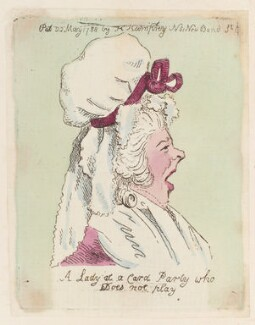 'A lady at a card party who does not play', possibly by James Gillray, published by  Hannah Humphrey - NPG D12958