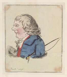 'Head of a man', possibly by James Gillray, published by  Hannah Humphrey - NPG D12959