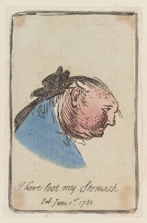 Thomas Alexander Erskine, 6th Earl of Kellie ('I have lost my stomach'), probably by James Gillray, published 1 June 1780 - NPG D12969 - © National Portrait Gallery, London