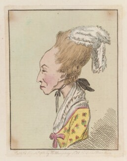 Emma Edgcumbe (née Gilbert), Countess of Mount Edgcumbe, probably by James Gillray, published by  Hannah Humphrey - NPG D12970