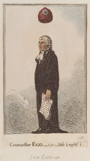 Thomas Erskine, 1st Baron Erskine ('Councellor Ego - i.e. little I, myself I'), by James Gillray, published by  John Wright - NPG D12972