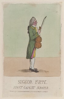 Giuseppe Puppo ('Signor Puppy. First catgut scraper'), by James Gillray, published by  Hannah Humphrey - NPG D12973