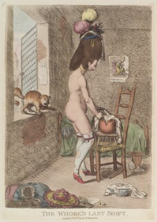 'The whore's last shift', by James Gillray, published by  William Humphrey - NPG D12977