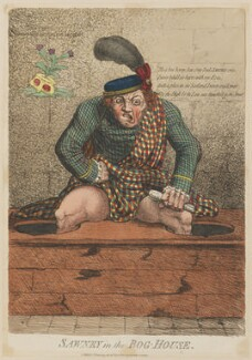 'Sawney in the bog-house', by James Gillray, published by  Mrs Holt - NPG D12978