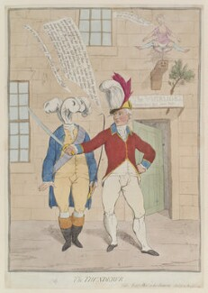'The thunderer' (King George IV; Sir Banastre Tarleton, Bt), by James Gillray, published by  Elizabeth d'Achery, published 20 August 1782 - NPG D12981 - © National Portrait Gallery, London