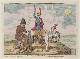 'The castle in the moon', by James Gillray, published by  Hannah Humphrey - NPG D12987