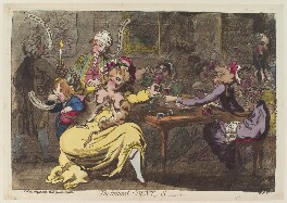 'The injured Count,, S' (Mary Eleanor Lyon (née Bowes), Countess of Strathmore), by James Gillray, published by  C. Morgan - NPG D12989
