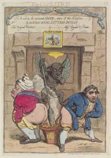 'The coalition' (Frederick North, 2nd Earl of Guilford; Charles James Fox), by James Gillray, published by  George Humphrey - NPG D12991