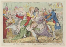 'The royal joke, - or - black jacks delight', by James Gillray, published by  Samuel William Fores - NPG D12996