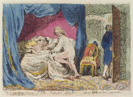 'The accomodating spouse; Tyr-nn-es delight! - coming York over her; - or what you like', by James Gillray, published by  James Aitken - NPG D12999