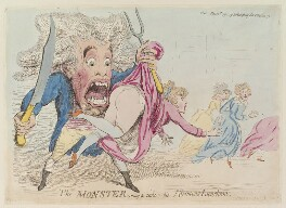 'The monster going to take his afternoons luncheon', by James Gillray, published by  Hannah Humphrey - NPG D13000