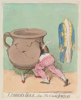 'Lubber's-hole, - alias - the crack'd Jordan' Dorothy Jordan; King William IV), by James Gillray, published by  Hannah Humphrey, published 1 November 1791 - NPG D13007 - © National Portrait Gallery, London