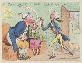 'Taking physick: - or - the news of shooting the King of Sweden!', by James Gillray, published by  Hannah Humphrey - NPG D13010