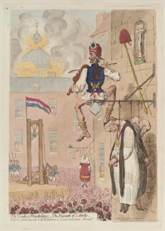 Louis XVI, King of France ('The zenith of French glory; - the pinnacle of liberty'), by James Gillray, published by  Hannah Humphrey, published 12 February 1793 - NPG D13014 - © National Portrait Gallery, London