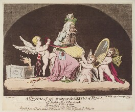 'A vestal of -93, trying on the cestus of Venus', by James Gillray, published by  Hannah Humphrey - NPG D13015