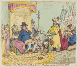 'Presentation of the Mahometan credentials - or - the final resource of French atheists', by James Gillray, published by  Hannah Humphrey, published 26 December 1793 - NPG D13018 - © National Portrait Gallery, London